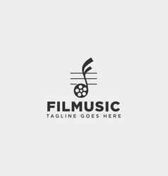 music clip cinema media entertainment simple logo vector image