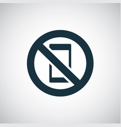 no smartphone icon for web and ui vector image