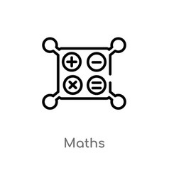 Outline maths icon isolated black simple line vector