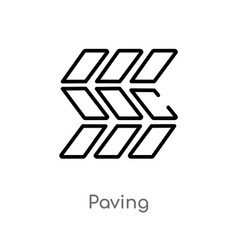 Outline paving icon isolated black simple line vector