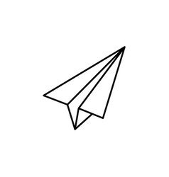 paper plane outline icon signs and symbols can be vector image