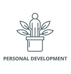 Personal development line icon linear vector
