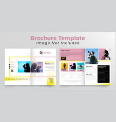 Photography bifold brochure deisgn template vector