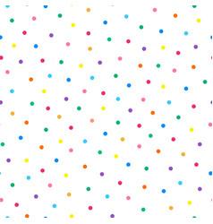 Polka dot simple seamless fesitve pattern vector