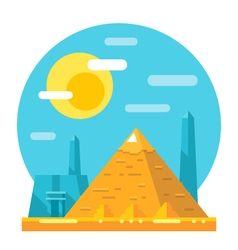 Pyramid of Giza flat design landmark vector