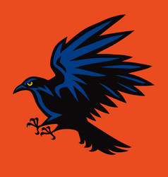 raven logo angry bird sport mascot icon vector image
