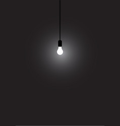 realistic lamp and lighting on the wall background vector image