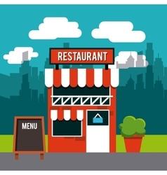 restaurant outside design vector image