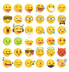 rough hand drawn big emoji set 2 vector image