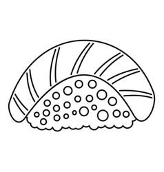 Sake sushi icon outline style vector