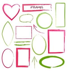 set grunge brush frames vector image