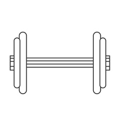 single dumbbell icon vector image