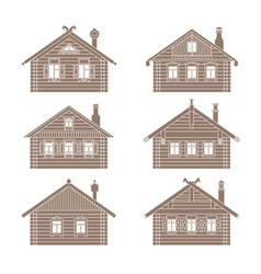 Slavic hut set vector image