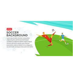 soccer players championship fool color vector image