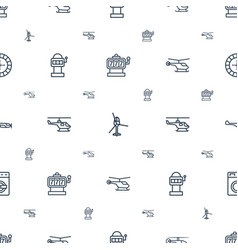 Spin icons pattern seamless white background vector