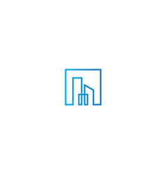 Square line building business logo vector