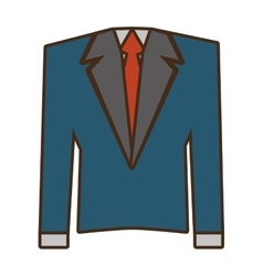 Suit elegant male isolated icon vector