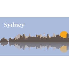 Sydney skyline at sunrise vector