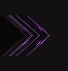 Violet cyber arrow grey mesh background vector