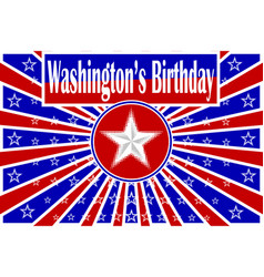 Washingtons birthday vector