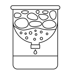 Water purification icon outline style vector