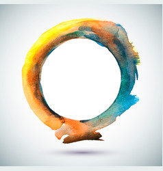 watercolor-ring-blue-yellow vector image