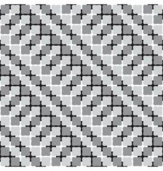 Waving Shapes Optical Seamless Pattern vector image