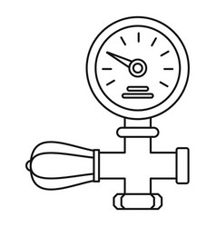 welding gas pressure monitor icon outline style vector image