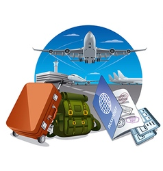 air travel and journey vector image