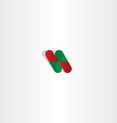 capsule pill pharmacy logo icon element vector image vector image