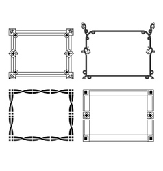 Decorative hand-drawn frames vector image