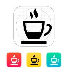 Ending tea cup icon vector image vector image