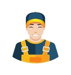 Flat Warehouse and delivery or building worker vector image vector image