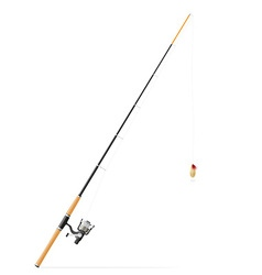 rod spinning for fishing 02 vector image vector image