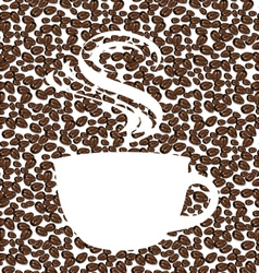 The concept of coffee background vector image vector image