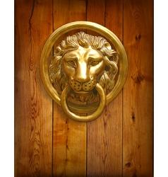 The door handle - the head of a lion vector image