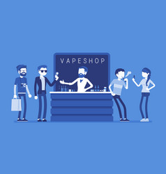 vape shop business vector image