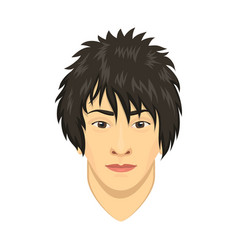 young asian man avatar character male face vector image