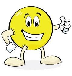 cartoon giving thumbs up vector image vector image