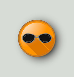 circle with sunglasses vector image
