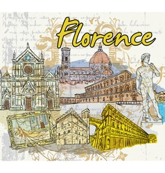 florence doodles vector image