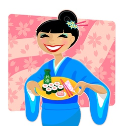 japanese meal vector image vector image