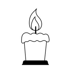 Lit candle icon image vector