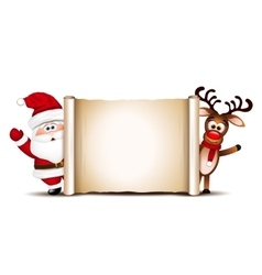 Christmas card design template Santa Claus and vector image vector image