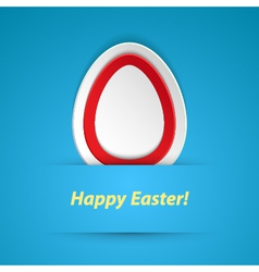 Happy easter paper sticker vector image vector image