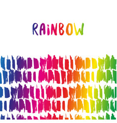 Rainbow border colorful decoration template for vector