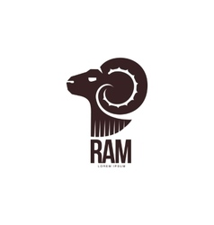 Ram sheep lamb head silhouette graphic logo vector image vector image