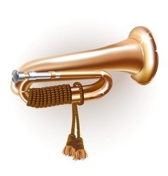 Classical bugle vector image