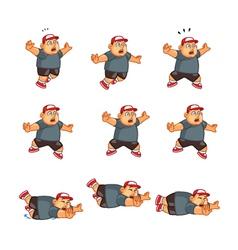 Fat Boy Falling Sprite vector image vector image