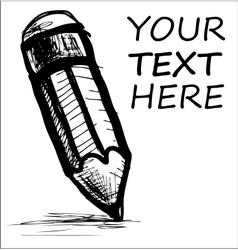 Pencil and sample text vector image vector image
